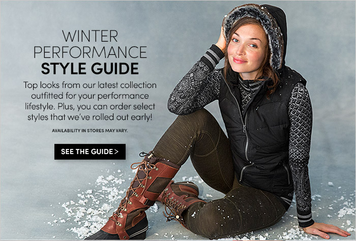 WINTER PERFORMANCE STYLE GUIDE | SEE THE GUIDE